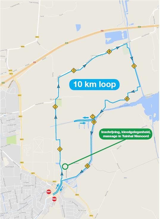 10 km Parkoers 2018