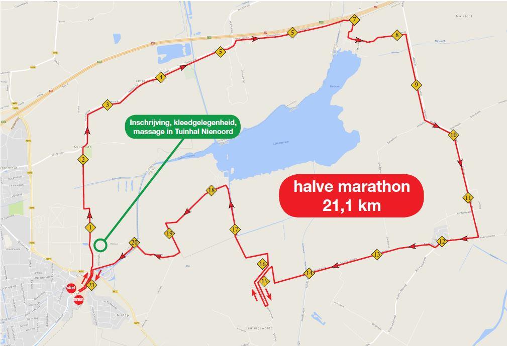Halve Marathon Parkoers 2018