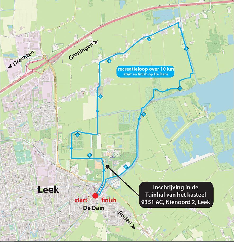 10 km Parkoers 2019
