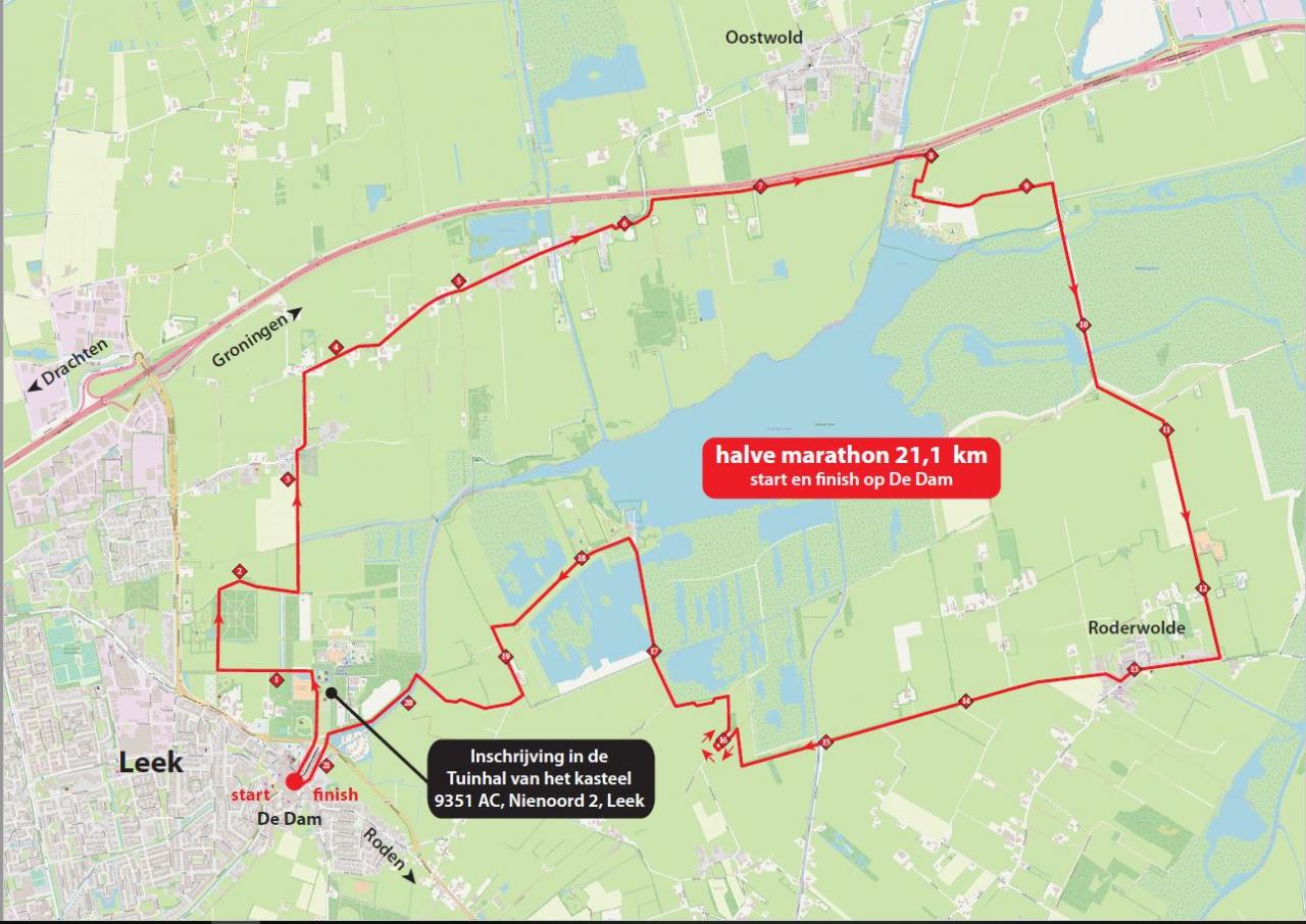 Halve Marathon Parkoers 2019